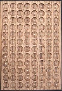 OAK-PATHTAG-GEOCOIN-DISPLAY-HOLDS-96-TAGS-UNIQUE-amp-MADE-IN-USA