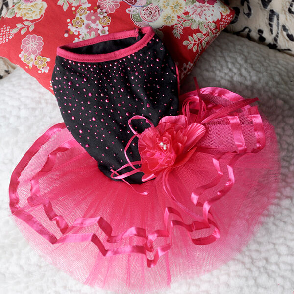 Pet Puppy Small Dog Lace Skirt Princess Tutu Dress Clothes Apparel Costume Cute