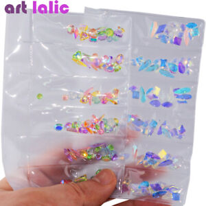 AB-Flat-Back-Acrylic-Nail-Art-Rhinestones-Diamond-Crystals-Gel-Polish-Tips-Decor