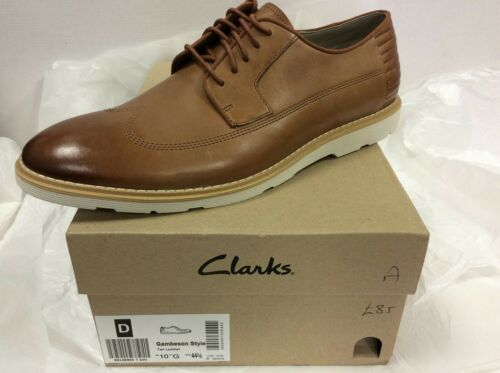 Leather Eur Reino Calzado de 44 Tan Clarks hombre 5 Unido 10 Gambeson Style nHq4g