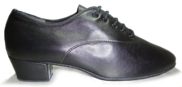 MONDIAL SHOES 5 scarpe da ballo uomo bambino tacco 40/U nere basse pelle vitello