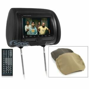 NEW-Planet-Audio-PH7ACD-Single-7-034-TFT-LCD-Headrest-Monitor-w-Built-In-DVD-Player