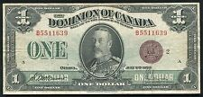 "DC-259 1923 $1 ONE DOLLAR DOMINION OF CANADA ""BRONZE SEAL"" VF+"