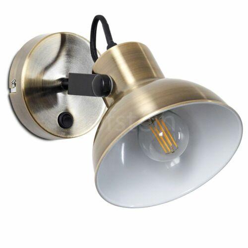 Wand Leuchte Dekor Stanzungen schwarz-gold USB Lampe Wohn Zimmer Design Strahler