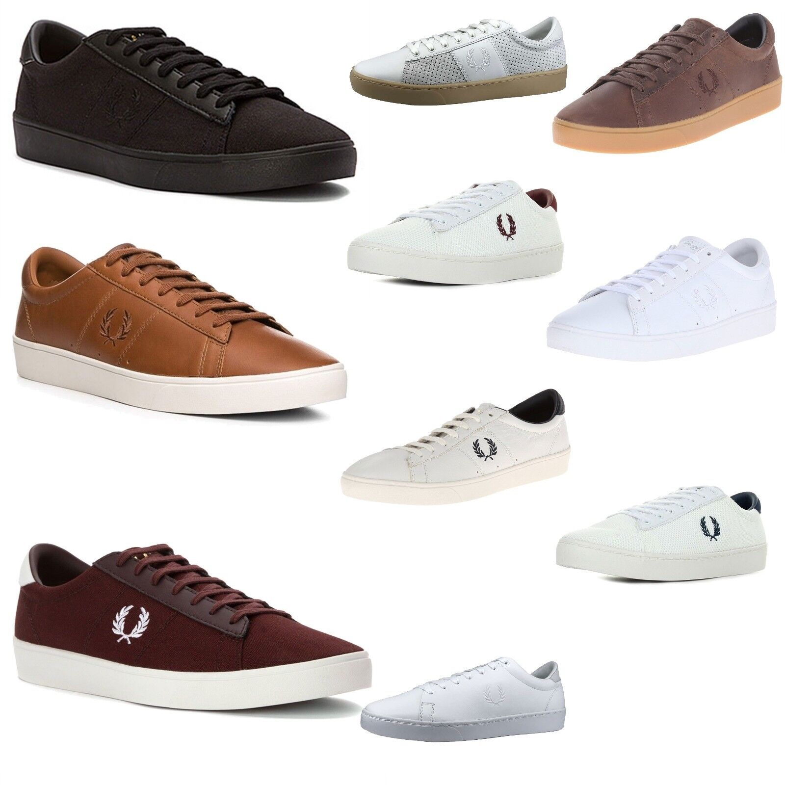 Scarpe casual da uomo  Fred Perry uomo Spencer Mesh/Suede/Canvas/Leather Tennis Sneakers Casual Shoes