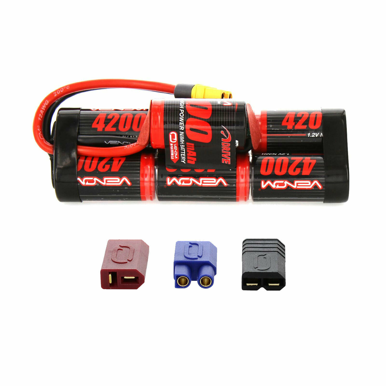 Venom NiMH Battery   Traxxas Slash 1 10 8.4V 4200mAh 7 Cell Hump with UNI Plug