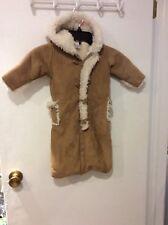 2b6b294b9391 Girl Boy Baby Gap Beige Snowsuit Coat Faux Shearling Winter Pramsuit ...