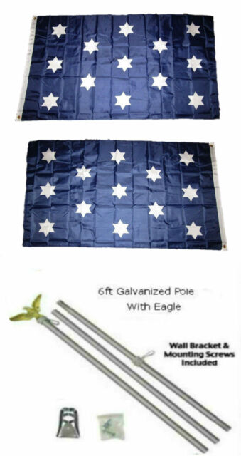 3x5 USA American /& State of Washington Flag Galvanized Pole Kit Top 3/'x5/'