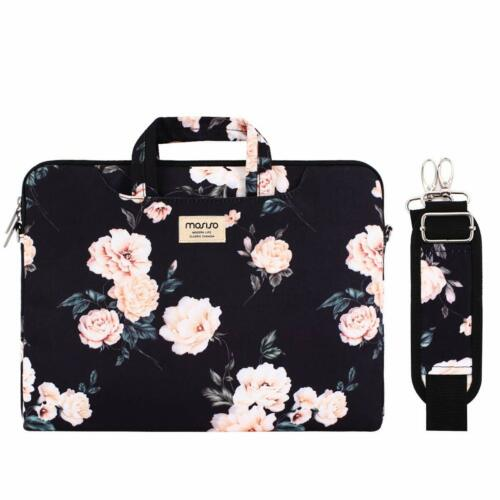 Mosiso Laptop 13 15 inch Shoulder Bag with Back Trolley Belt for Business Trip