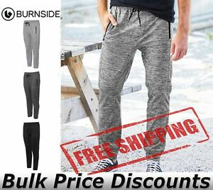 Burnside-Mens-Heather-Performance-Joggers-Pants-8801-up-to-3XL