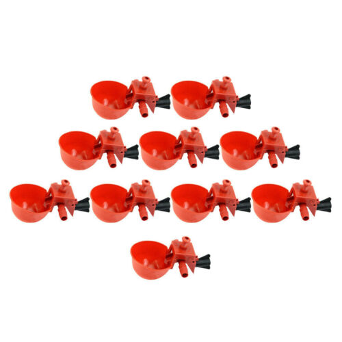 20pcs Poultry Chicken Automatic Water Drinking Cup Plastic Drinker Farm Supplies