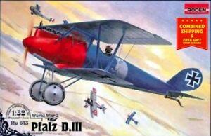 Roden 613 - 1/32 - Pfalz D.III German biplane-fighter WWI plastic model kit