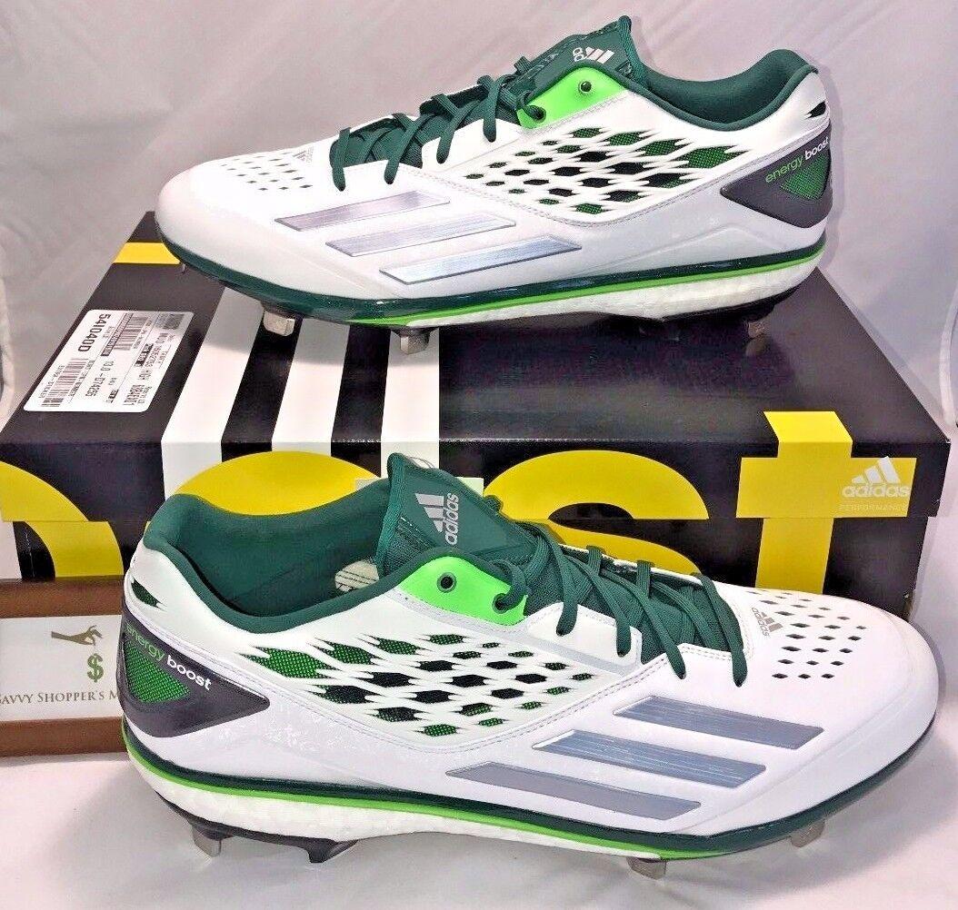 Adidas mens dimensioni 14 energia energia energia impulso icona scarpe da baseball di metallo bianco verde d'argentoo | Scelta Internazionale  85d346