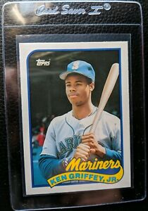 Details About 1989 Topps 41t Ken Griffey Jr Rookie Card Rc Seattle Mariners Hof Mint