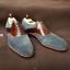 main en daim en brun cuir gris formées habillées la à et Chaussures waIXqn