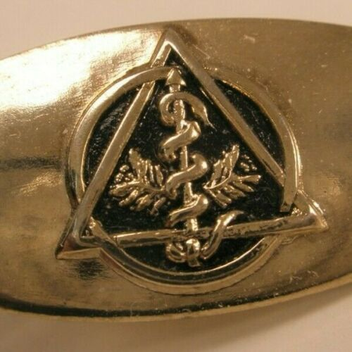 Staff Rod Of Aesculapius Vintage Charm Medical Doctor Nurse Snake Wings Medal