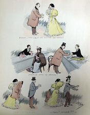 Chaste et Fletri Gnats Gantier Caricature Gravure Ya des Dames Albert Guillaume