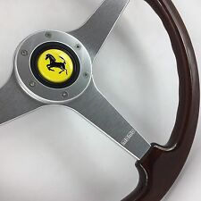 Genuine Momo 370mm wood steering wheel, Ferrari. 308 348 Mondial etc. Beautiful!