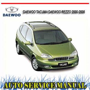 daewoo tacuma daewoo rezzo 2000 2008 repair service manual dvd ebay rh ebay com au daewoo tacuma manual download daewoo tacuma workshop manual free download