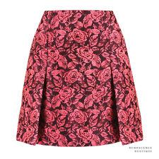 Erdem Luxurious Pink Bordeaux Rose Floral Jacquard Calista Skirt UK10 IT42