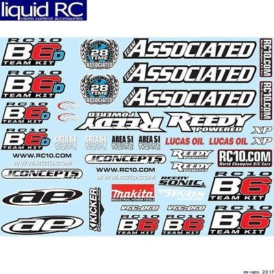 Associated 91742 B6 Decal Sheet