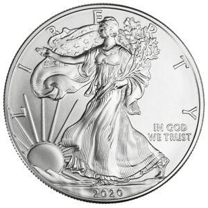 2020 1 oz American Silver Eagle $1 GEM BU