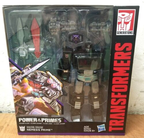 HASBRO TRANSFORMERS POWER OF THE PHIMES LEADER CLASS NEMESIS PRIME BLACK OPTIMUS