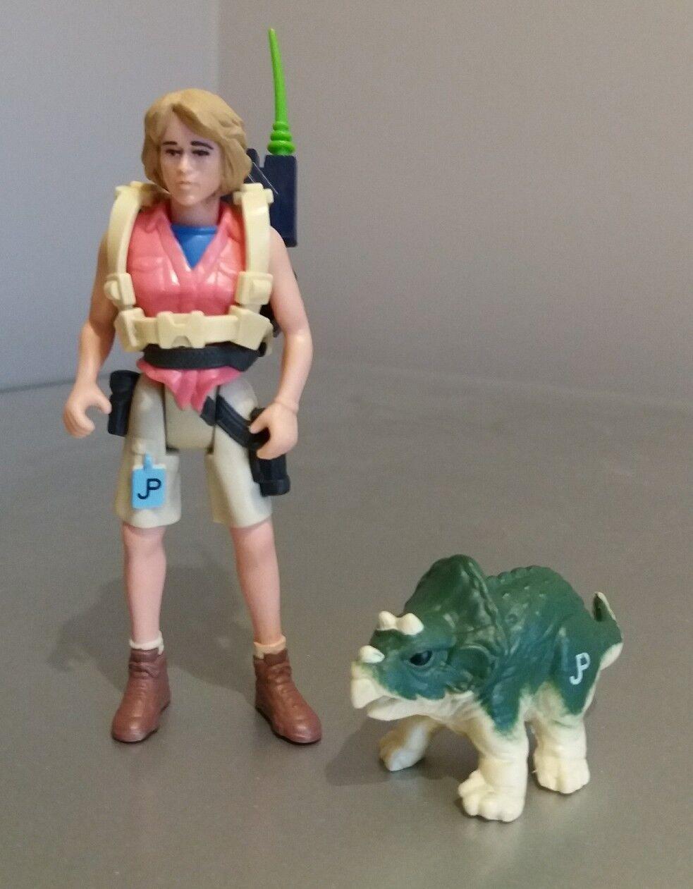 Rare Jurassic Park Ellie Satter Figure original accessories Kenner 1993