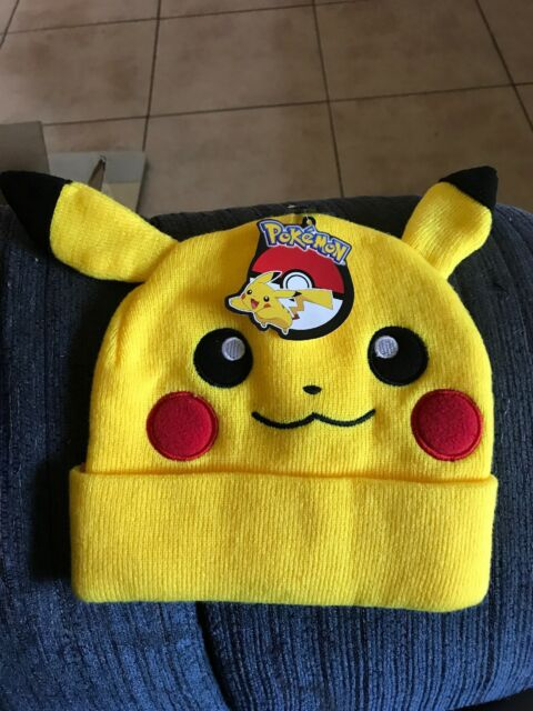 06bc45ecd87 Buy Bioworld Pokemon Pikachu Big Face Fleece Cap Beanie With Ears ...