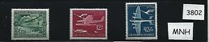 Full-MNH-Stamp-set-25th-anniversary-Airmail-1944-Airplanes-WWII-Germany
