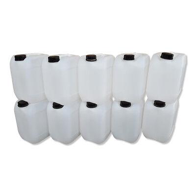 10 L Kanister Kunststoffkanister Behälter Plastikkanister gebraucht natur DIN45