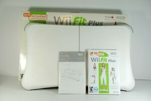 Nintendo Wii Fit Balance Board & Wii Fit Plus Game With Manual Tested & Working