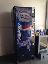 Pepsi/Coke Dixie Narco 276-6 Flat Front Soda Vending Machine W/Coin & $Bill'S