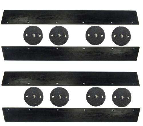 183039 Wacker Neuson Vibratory Roller RD11A Scraper Set w// Mounts 2 Drum Set