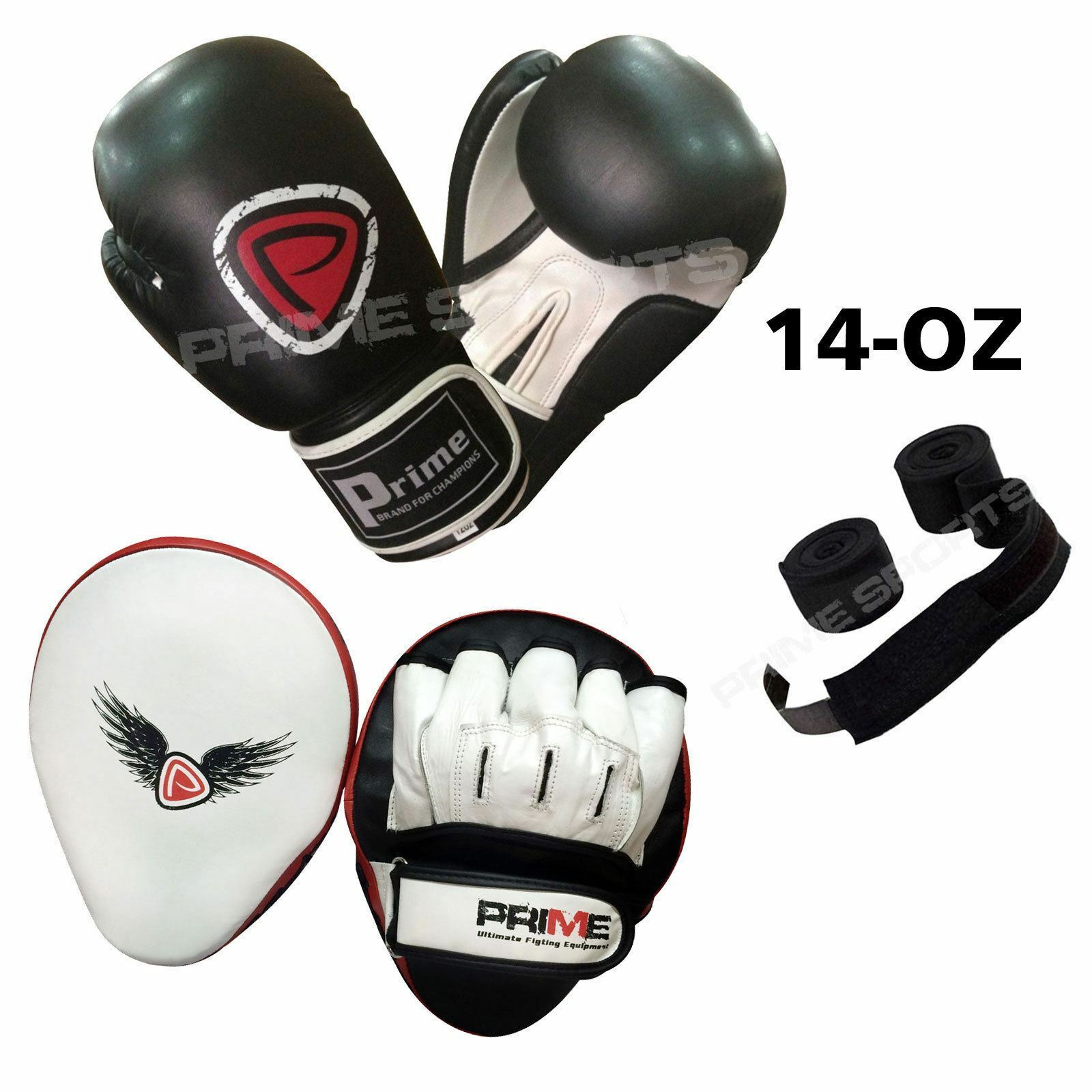 Gants de boxe entrainement entrainement entrainement Sac frappe Rex cuir coussins bandes mains ensemble 25b51e