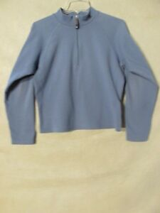 d12a5e1c5 Details about S4515 The North Face Women's Medium Blue Long Sleeve 1/2 Zip  Pullover