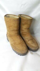 UGG-Mens-Boots-Brown-Size-11-Slipon-GoodYear-Tread-Sole