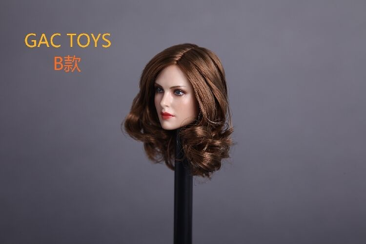 GACTOYS GC005-B Planted Planted Planted Curly Hair Female Head Model 1 6 Fit F 12  Action Figure 0d0c83