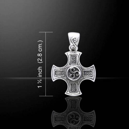 Keltisch Knoten Kreuz der Harmonie Triskele .925 Sterling Silber Anhänger Peter