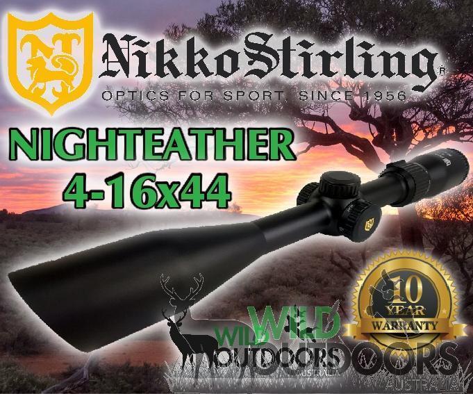 Mira Para Rifle Nikko Stirling - - Devorador De  La Noche - 4-16x44 SF - 4 Plex retícula dúplex   el estilo clásico