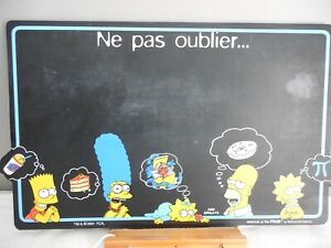 TABLEAU NOIR pense bête SIMPSON 2001 Avenue of the stars