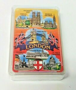 London-England-Souvenir-Playing-Cards-Famous-Sites-NEW-Sealed-In-Case