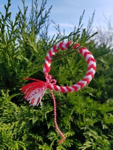 Bracelet White /& Red Martenitsa Martenitca Martenica Martenitza Martisor Art AC