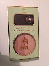 Pixi Bronze Blush Duo Bronzer Peach Honey Beach Glow plus Kabuki