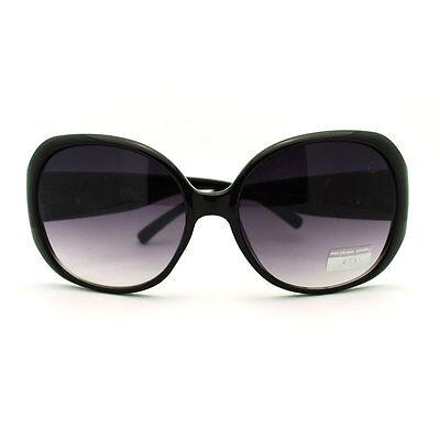 Black Plastic Frame Butterfly Bubble Lens Oversized Fashion Sunglasses