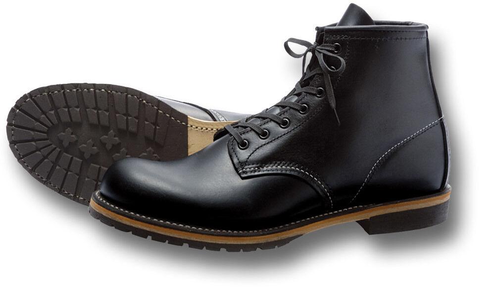 rouge Wing chaussures 9014 6  Travail en Cuir Noir   bottes décontractées