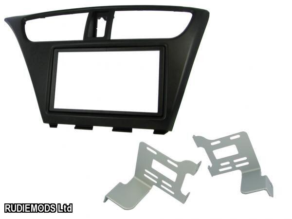 CT23HD25L auto estéreo LHD DOBLE DIN FASCIA Adaptador Negro Para Honda Civic 2012-15