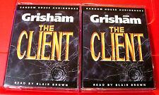 John Grisham The Client 4-Tape Audio Book Blair Brown Legal Thriller