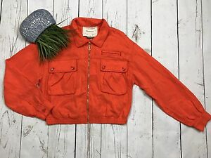 Nwt Medium Anthropologie Cartonnier By Orange Eisenhower Taille Veste Jacquard vvUar