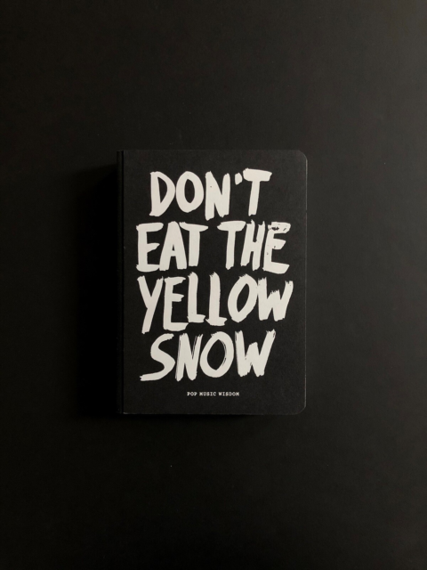 Don't Eat The Yellow Snow, Pop Music Wisdom, Pick-up…